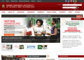 Websys.knust.edu.gh thumbnail