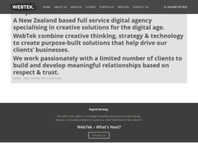 Webtek.co.nz thumbnail