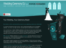 Weddingceremonydj.ie thumbnail