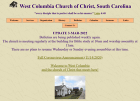 Westcolumbiachurchofchrist.org thumbnail
