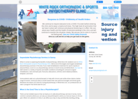 Whiterocksportsphysio.ca thumbnail