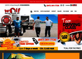 Wolfcdlcom At Wi Wolf Driving School Cdl School Home