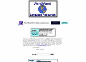 Word2word.com thumbnail