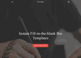 At wi instant fill in the blank bio for Free bio template fill in blank