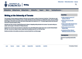 Writing.utoronto.ca thumbnail