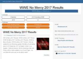 Wwenomercy2017results.com thumbnail