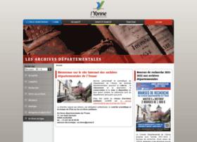 Yonne-archives.fr thumbnail