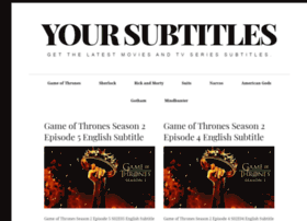 Yoursubtitles.com thumbnail