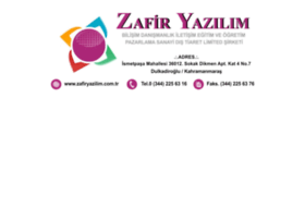 Zafiryazilim.com.tr thumbnail