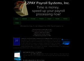 zpay.com at WI. Payroll Software from ZPAY Payroll Systems ...
