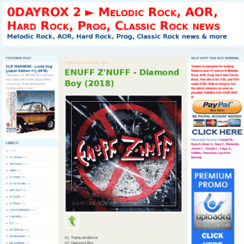 0dayrox2 blogspot com es at WI  0DAYROX 2 ▻ Melodic Rock, AOR, Hard