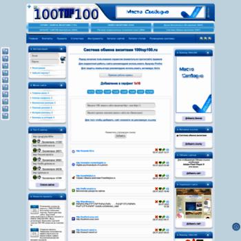 Веб сайт 100top100.ru