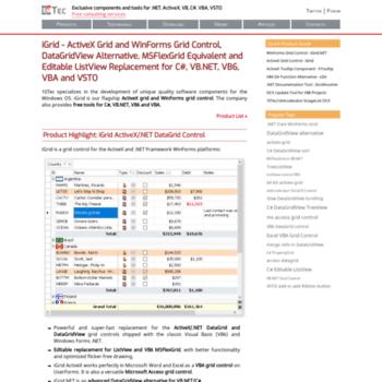 10tec com at WI  ActiveX/WinForms Grid Control, DataGridView