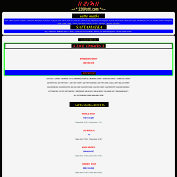 220patti com at WI  220PATTI | 220 PATTI | SATTAMATKA