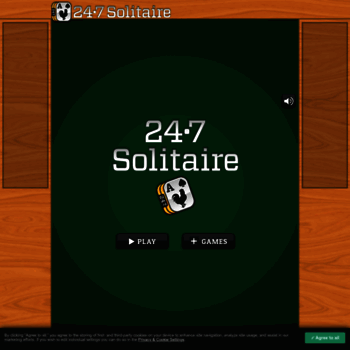 247solitaire com at WI  247 Solitaire