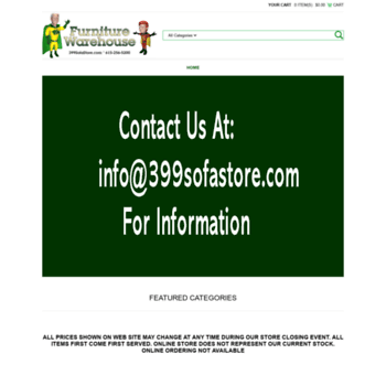 399sofastore.com at WI. Furniture Warehouse | Home of the $399 Sofa ...
