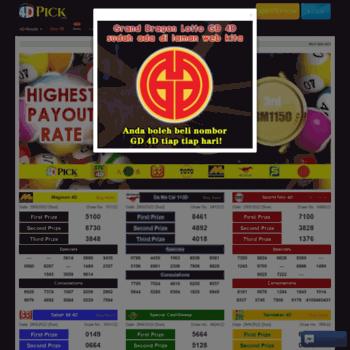 4dpick com at WI  Latest 4D Results Today (Keputusan 4D Hari