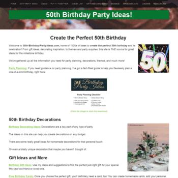 50th Birthday Party Ideas Thumbnail