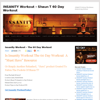 60dayworkout us at WI  Insanity Workout A 60 Day Workout with Shaun
