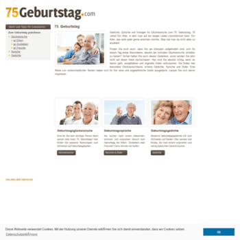 75geburtstagcom At Wi 75 Geburtstag Sprüche Gedichte