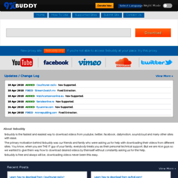 9xbud com at WI  9xbuddy : Simply The Best Online Downloader!