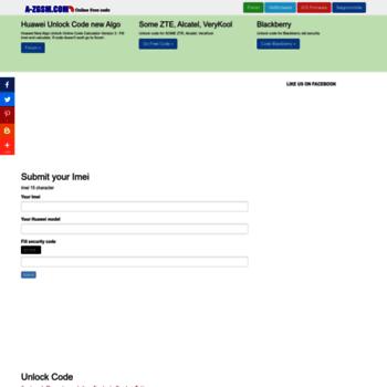 a-zgsm com at WI  Huawei New Algo Unlock Online Code Calculator