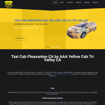 aaayellowcabco com at WI  AAA Yellow Cab Services Tri Valley