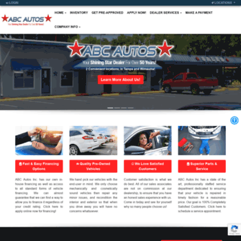 Buy Here Pay Here Tampa >> Abcautostar Com At Wi Abc Autos Tampa Used Cars Tampa Buy