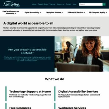 Abilitynet.org.uk thumbnail