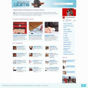 Aboutsmallclaims.co.uk thumbnail