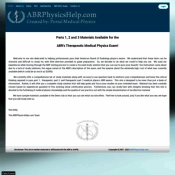 abrphysicshelp com at Website Informer  Home  Visit Abrphysicshelp