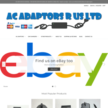 Acadaptorsrus.co.uk thumbnail