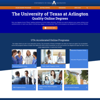 Academicpartnerships.uta.edu thumbnail