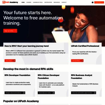 academy uipath com at WI  UiPath RPA Academy