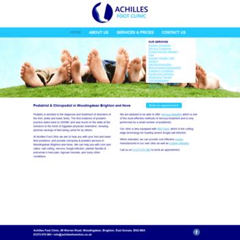 Achillesfootclinic.co.uk thumbnail