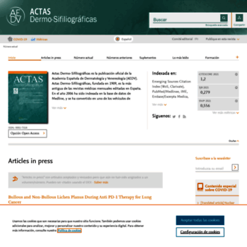 Actasdermo.org thumbnail