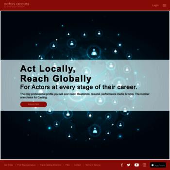 actorsaccess com at WI  actors access (SM)
