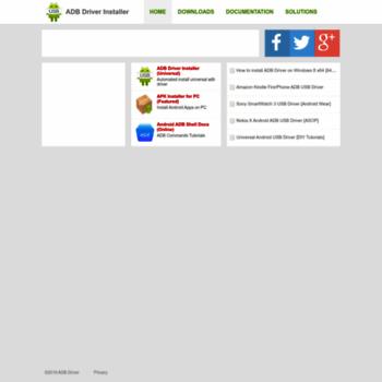 adbdriver com at WI  ADB Driver - Universal Android USB Driver