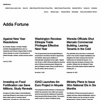 Addisfortune.net thumbnail