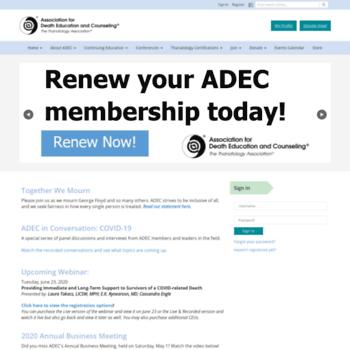 Adec.org thumbnail