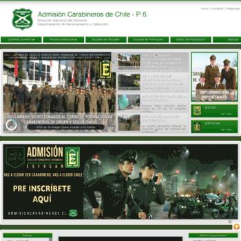 Admisioncarabineros.cl thumbnail