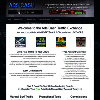 adscash fun at WI  Manual Surf Traffic Exchange - Ads Cash