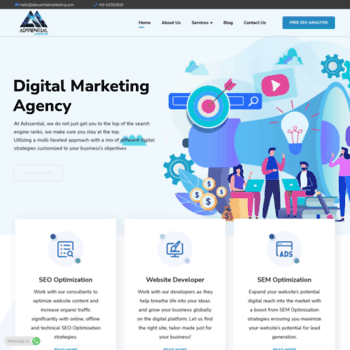 Веб сайт adssentialmarketing.com