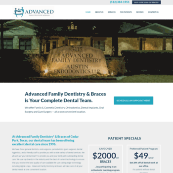 advancedfamilydentist com at WI  Cedar Park TX Top Family