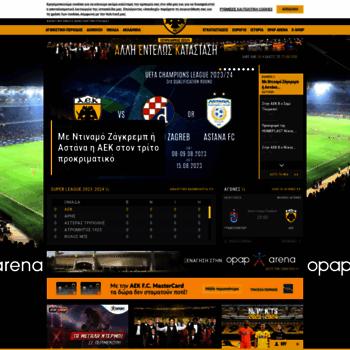 aekfc.gr at WI. AEK F.C. Official Web Site a7817d1b340