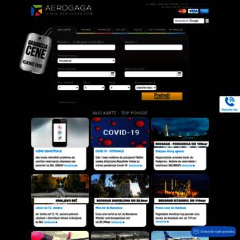 Avionske Karte.Aerogaga Com At Wi Avionske Karte Garancija Najniže Cene Avio