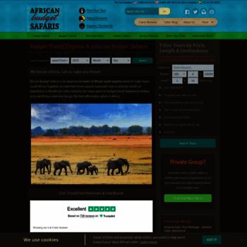 Africanbudgetsafaris.com thumbnail