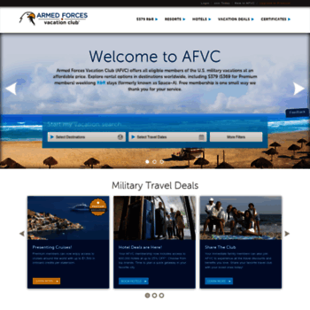Military Vacation Deals >> Afvclub Com At Wi Armed Forces Vacation Club Afvclub Com