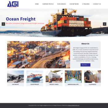 agifreight com sg at WI  AGI Freight Singapore Pte Ltd
