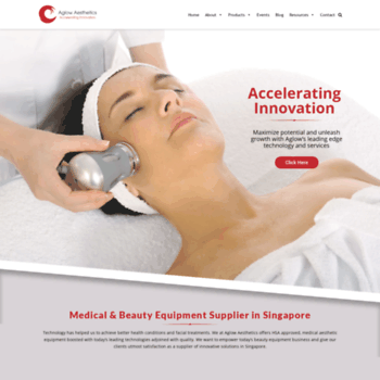 aglowaesthetics com at WI  Aesthetic Equipment Distributor, Co2